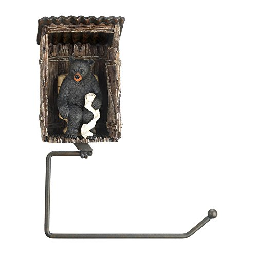 Eastwind Gifts 10016198 Bear Outhouse Toilet Paper Holder (Outhouse Bathroom Toilet)