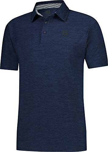 (Three Sixty Six Golf Shirts for Men - Dry Fit Short-Sleeve Polo, Athletic Casual Collared T-Shirt)