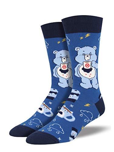 Socksmith Men's More Coffee Less Grumpy Care Bears Novelty Socks, Blue]()