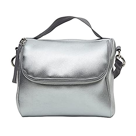 cab82c12593c Amazon.com  Cynthia Rowley Silver Insulated Strapped Lunch Bag or ...