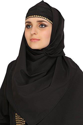 MyBatua desgaste negro tradicional de la ocasión del islamic y desgaste del partido señoras abaya burqa AY-525