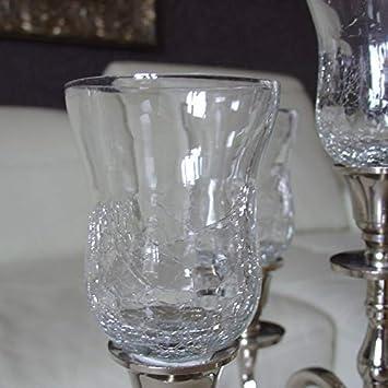 Amazonde Dekowelten Glasaufsatz Glas Für Kerzenleuchter