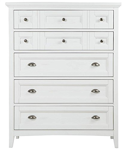 (Magnussen Furniture Heron Cove 5-Drawer Chest in Soft White Finish)