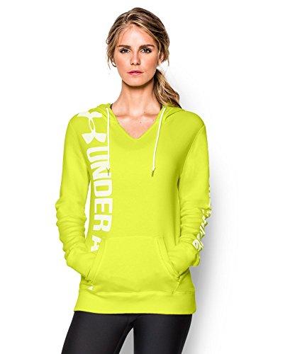 Under Armour Women's UA Favorite Fleece Branded Hoodie Small Flash Light