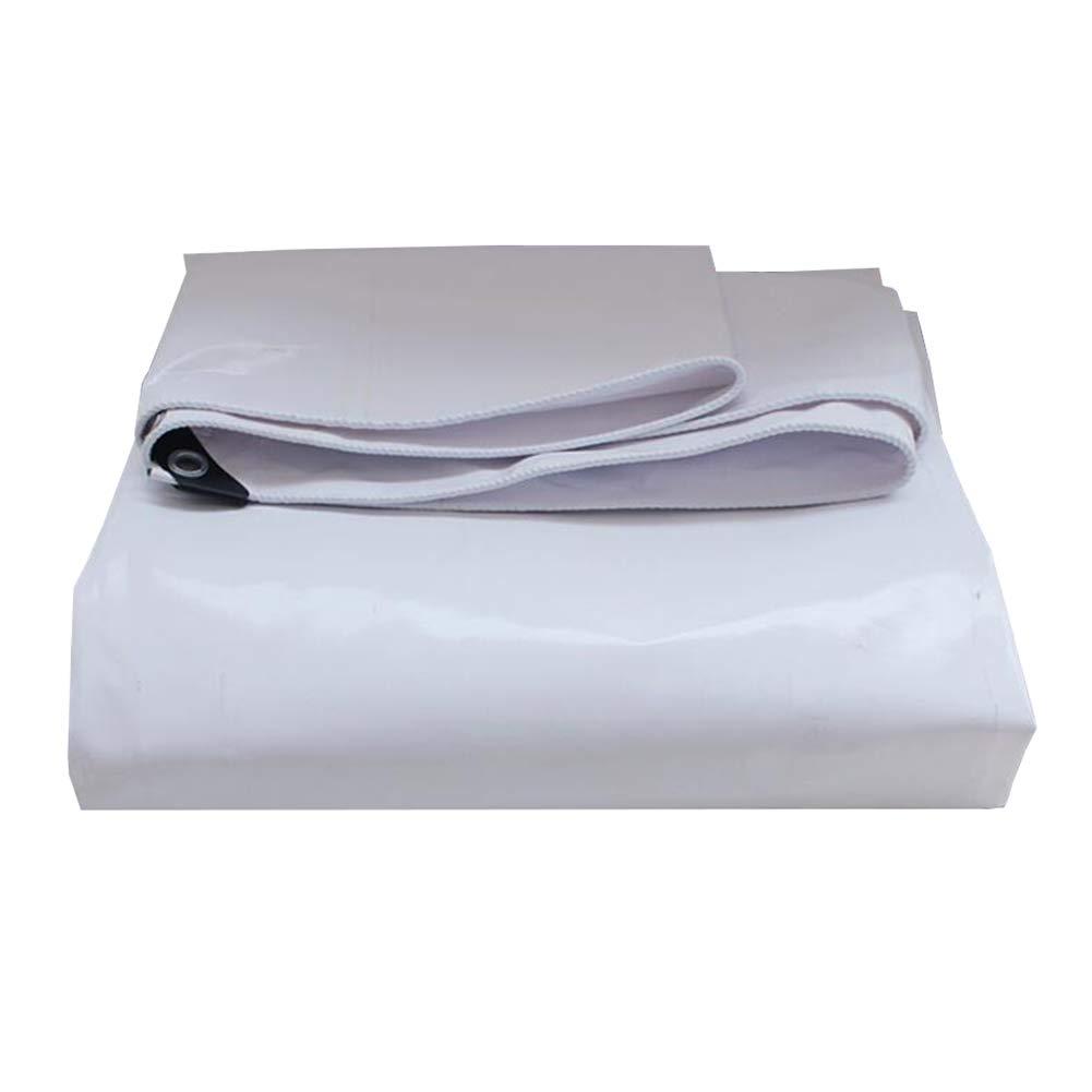 MUMA ターポリン 白 厚い 耐寒性 防水 日焼け止め ナイフ スクラッチ 布 (色 : 白, サイズ さいず : 4*8m) 4*8m 白 B07KKF9KZD