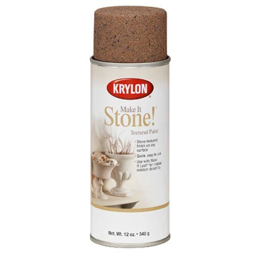 Krylon K18203 Coarse Stone Texture Finish Spray Paint, Travertine Tan, 12 - Faux Spray Finish