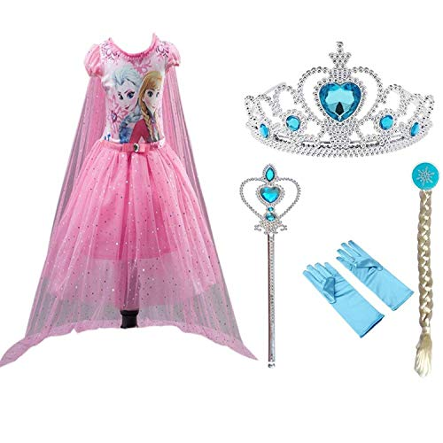 - VIETER Queen Elsa Princess Anna Dress up Costume Frozen Girls Toddler Fancy Snow 2019 Clothes Couple