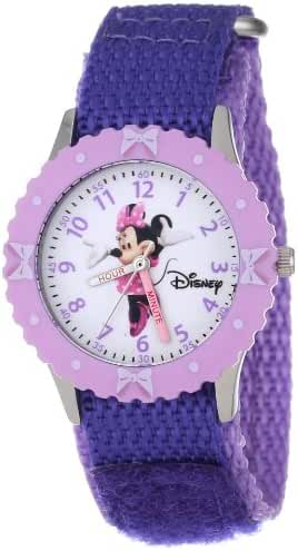 Disney Kids' W000026 Minnie Mouse Time Teacher Watch With Two-Tone Nylon Band