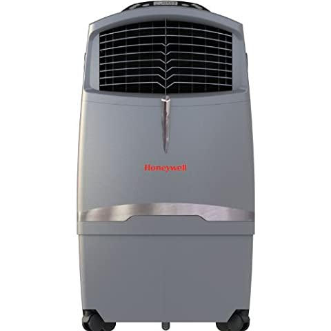 Honeywell 525 CFM Indoor Evaporative Air Cooler (Swamp Cooler) with Remote Control in Gray (Evaporative Cooler Portable)