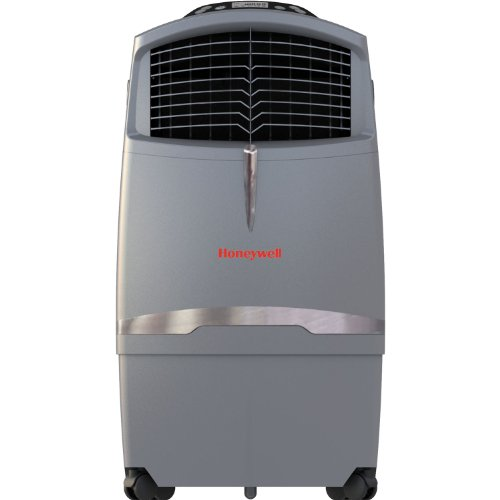 Honeywell 525 CFM Indoor Evaporative Air Cooler (Swamp Cooler) with Remote Control in Gray