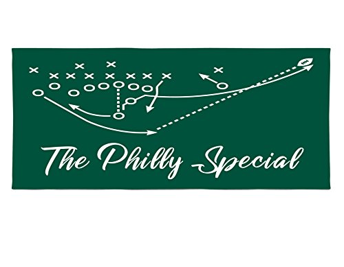Personalized Corner Philadelphia Eagles Beach Towel - Philly Special Super Bowl Champs - Football Mens Apparel -