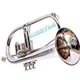 NEW Bb Flat Silver Nickel Flugel Horn With Free