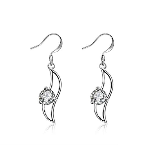 fonk: New Fashion silver-plated earing Insets Banana-Shaped drop Earring silver plated Earrings SMTE246