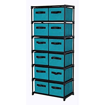 storage chest with drawers. Homebi Storage Chest Shelf Unit 12-Drawer Cabinet With 6-Tier Metal Wire Drawers