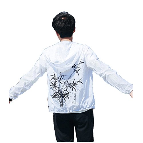 Allonly Men s Fashion Hoodie Zip-up Chinese Letter Printed Lightweight  Windbreaker Jacket - Buy Online in UAE.  ccf3f6402