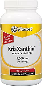 Vitacost KriaXanthin Antarctic Krill Oil with Natural Astaxanthin -- 1000 mg per serving - 300 Softgels