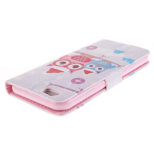 "MOONCASE iPhone 6 Case Magnetverschluss [Painted Patterns] Leder Tasche Flip Case Cover Schutzhülle Etui Hülle Schale für iPhone 6 (4.7"") -LK06"