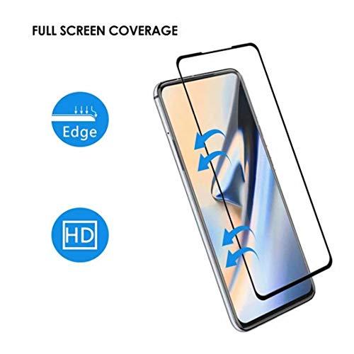 واقي شاشة Minwu Realme X7 Pro [تغطية كاملة] [صلابة 9H]، شفاف، مقاوم للخدش، واقي شاشة من الزجاج المقسى، واقي شاشة Realme X7 Pro (عبوة من قطعتين) أسود