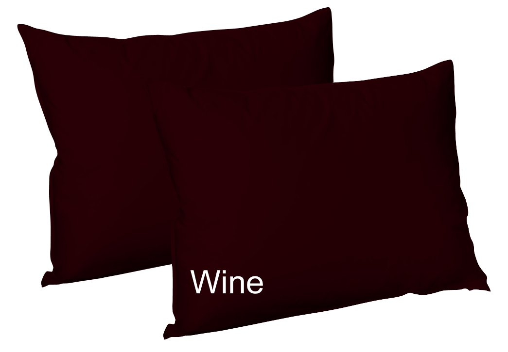 AR'S Plain Dyed PolyCotton Housewife Pillow Cases Pair Pack 16 Colours (Black) ARLINENS