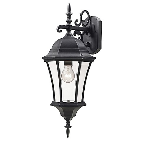 Filament Design Wakely Outdoor 24-Inch 1-Light Wall Lantern in Black