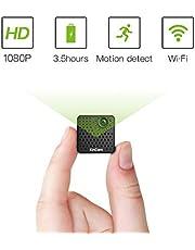 Mini Kamera WiFi 1080P,KinCam Wireless WLAN Tragbare Kamera Überwachungskamera mit Bewegungsmelder und IR Nachtsicht Ideal für IOS, Android und ipad