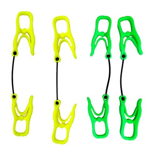 またねカウンターパート経験Perfk プラスチック 4個 手袋グローブクリップホルダー ガード アタッチメント クランプ ハンガー タオルグラスヘルメット