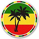 Jamaica Rasta Palm Tree Vinyl Decals Stickers (two Pack!!!)|cars Trucks Vans Walls Laptops|printed Color|2-4 In Decals|kcd563 | amazon.com