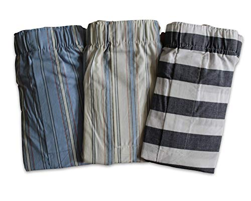 GAP Men's Lot of 3 Boxer Shorts (X-Large 38-40 Inch XL) Stripe Patterns Boxers