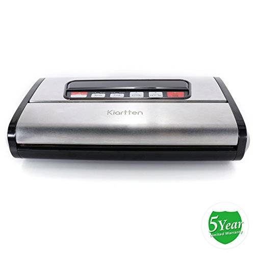 Kiartten Vacuum Sealer, A Fresh Food Locker for Your Kitchen. Keeps Food Fresh Up To 5X Longer. (Stainless Steel) by Spreaze (Image #7)'
