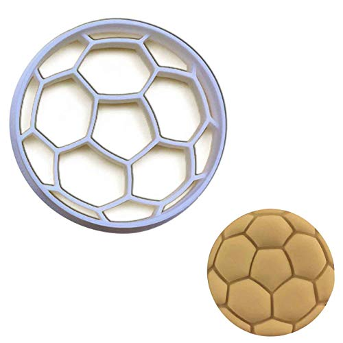 Soccer Ball cookie cutter (large size), 1 pc, Ideal as treats for sports team bonding - Cookie Ball Soccer