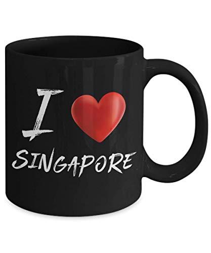 I Heart Love SINGAPORE Tourist Souvenir Coffee Mug