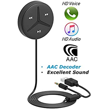 [Upgraded] Aston SoundTek A1+,Excellent Sound,3.5mm Aux Bluetooth Receiver,Car Handsfree,AAC Codec,Music Streaming for Car and Home Theater,Voice Assistant,Auto On,Multi-Point,Build-in Noise Isolator