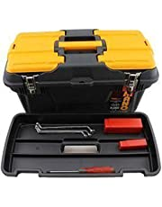 Mano MG 19-inch Trade Quality Toolbox with Full Metal Hinge Rod Plus Removable Organiser Tray and Lid Organiser