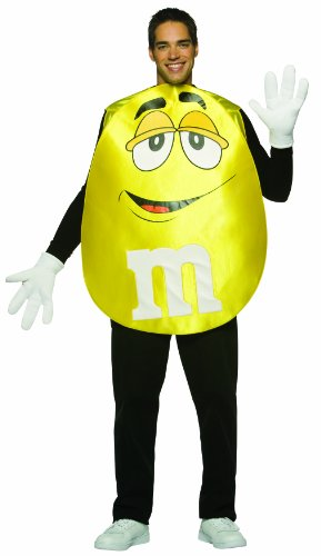 Food Characters Halloween Costumes (Rasta Imposta M&M's Poncho, Yellow, Standard)