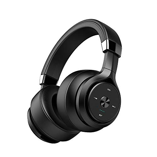 KNDJSPR Bluetooth Hearing Protection Ear Muffs, Noise Cancelling Safety Headphones, Compact Foldable Design, Subwoofer, for Firearm Shooting, Black