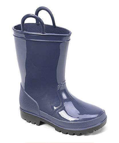 SkaDoo Blue with Black Sole Kids Rain Boots 10 M US