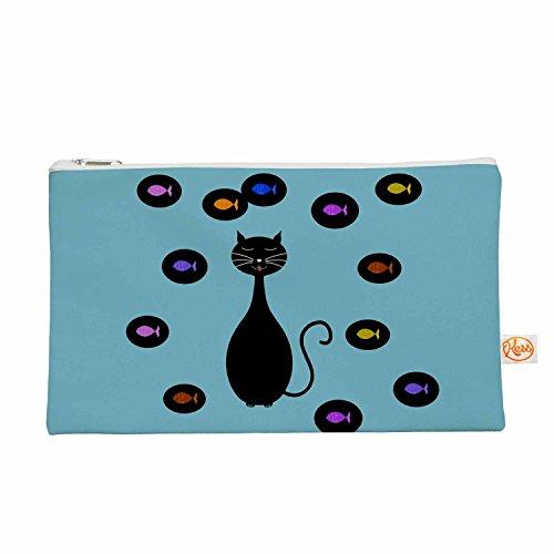 Kess eigene 12,5x 21,6cm Cristina Bianco design  Alles Tasche Katze und Fisch–mehrfarbig