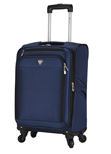 Travelers Club 18″ Carry-On Spinner Luggage Constructed with Top Durable Fabric, Navy Color Option For Sale