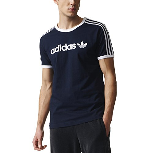 adidas originals Mens Linear Trefoil T-Shirt Legend Ink Blue BR4326 Size Medium