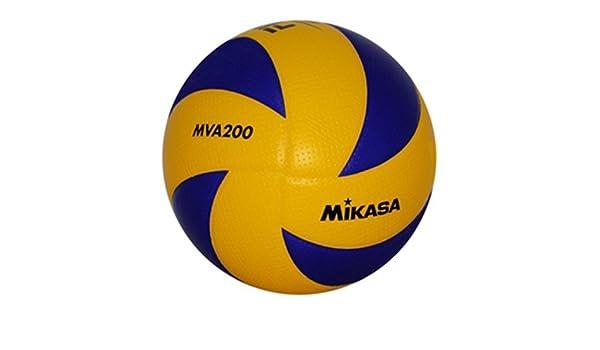Mikasa MVA-2000 Soft Balón, Unisex, Amarillo/Azul Real, 5: Amazon ...