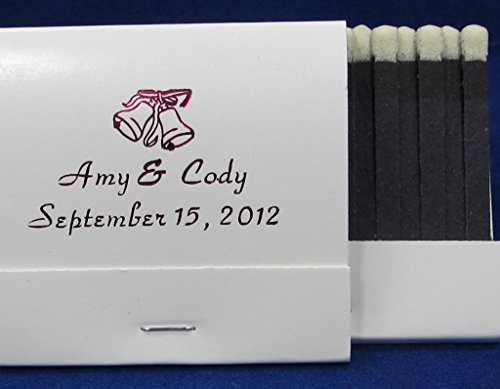 50 white personalized matchbooks wedding favors bridal shower birthday custom printed matches free personalization