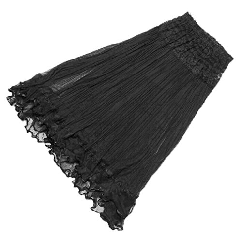 long black gauze dress - 2