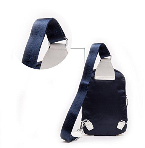 Wewod Multi-usos honda del bandolera de Hombro Bolso de Pecho ocasional del hombro para Senderismo Ciclismo Camping deportes al aire libre Viaje de escalada 19 x 30 x 6 cm (L*H*W) Azul