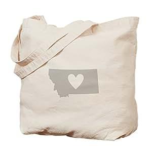 CafePress - Heart Montana - Natural Canvas Tote Bag, Cloth Shopping Bag