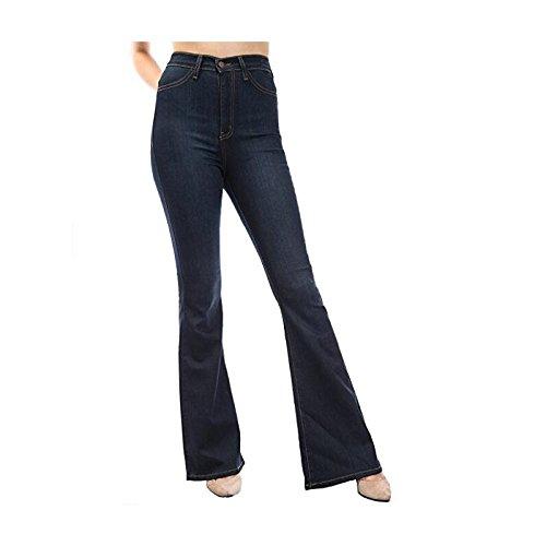 Oudan Pantaloni da Donna a Vita Alta, Jeans Chic di Grandi