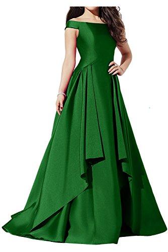 Jaegergruen Ballkleider Abendkleider Glamour Neu Ivydressing Satin Lang Partykleid Neu xS7HnORw