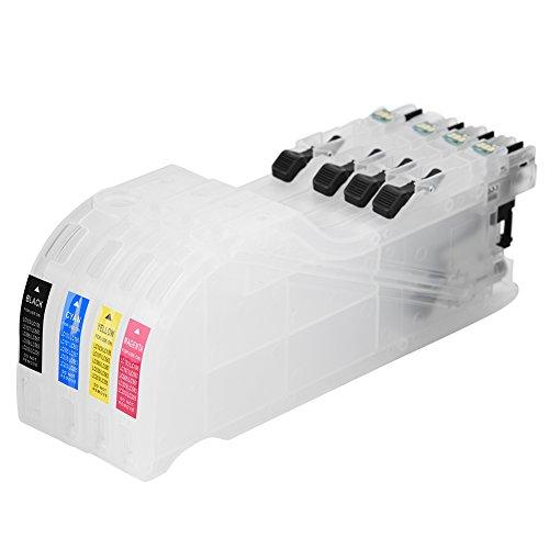 Richer-R Cartuchos de Tinta Recargables, Tinta Cartucho Universal con Chips de Restablecimiento Automático para la Serie de...