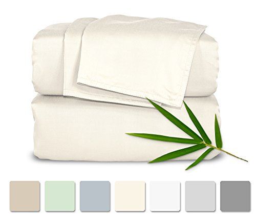 Pure Bamboo Sheets Luxuriously Soft Bed Sheets...