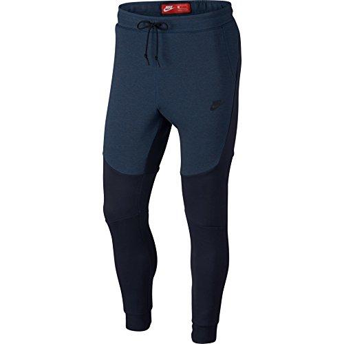 Nike Mens Sportswear Tech Fleece Jogger Sweatpants Obsidian Heather/Black 805162-453 Size 2X-Large