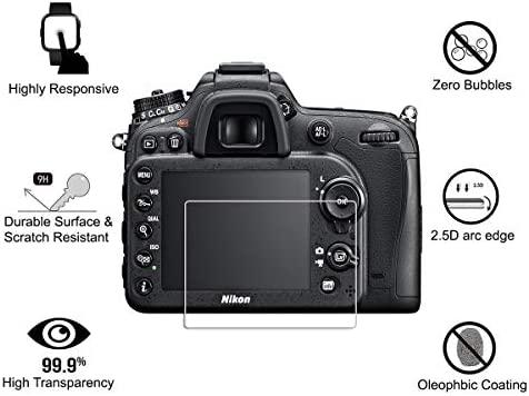 4 Piezas) OOTSR Protector de Pantalla para Nikon D7100 D7200 D800 ...